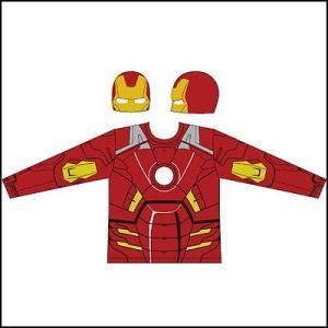 [メール便可] [在庫限り特価] コスチューム 「アベンジャーズ」 アイアンマン Tシャツ・マスクセット長袖 IRON MAN e-halloween