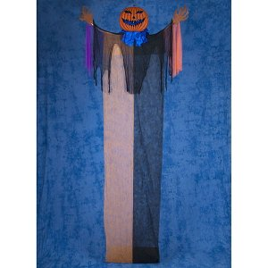【在庫限り!特価品 ¥9000⇒¥8000】ハロウィンビッグ装飾 ホラーハンギングパンプキン H500×W180cm / 飾り ディスプレイ ハロウィーン|e-halloween