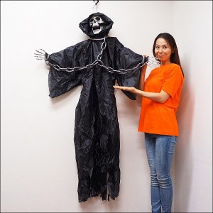 【特価品】4,000⇒3,500円ハロウィンビッグ装飾 ホラーハンギングチェーン演出 H170cm/動画有|e-halloween