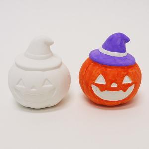 お絵かき陶器貯金箱 ハロウィンパンプキン 10個|e-halloween