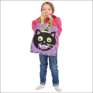 【在庫限り!特価品】700⇒500円 ハロウィングッズ キャットフェルトバッグ手作り工作キット Felt Bag Kit Cat|e-halloween