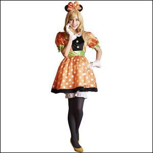 ハロウィンコスチューム 大人用パンプキンミニ− Adult Pumpkin Minnie