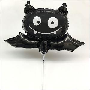 [メール便可] 装飾用ハロウィンスティック風船 ブラックバット/ フォトプロップス e-halloween
