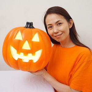 ハロウィン装飾 パンプキンランタン H28cm Lサイズ|e-halloween