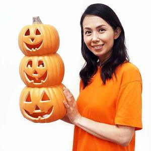 ハロウィン装飾 パンプキンランタン 3連 H60cm|e-halloween