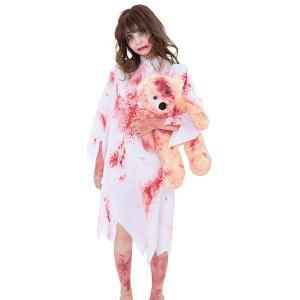 [追加なし!売切り処分特価]ハロウィンコスチューム ブラッディーリトルガールぬいぐるみ付き e-halloween