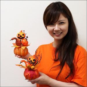 [半額以下処分] 1200⇒600円 ハロウィン装飾 かぼちゃペアポット H14cm / 動画有|e-halloween