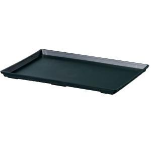 鉢皿 プラスチック 和鉢 盆栽皿 7号 ブラック 大和プラスチック アウトレット|e-hanas