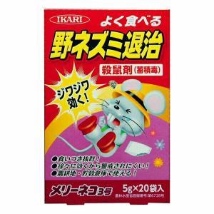 イカリ消毒 ねずみ忌避剤 メリーネコ3号 (5g×20袋入り)|e-hanas