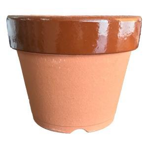 【定番】【常滑焼】【国産陶器鉢】【ガーデニング】駄温鉢 深型 4号|e-hanas