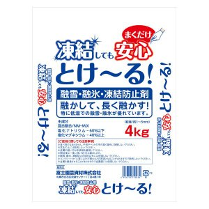 融雪剤 塩 とける とけ〜る! 4kg e-hanas