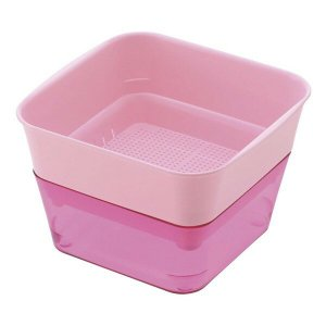鉢 プラスチック 野菜 スプラウトファーム 12型 ピンク リッチェル アウトレット|e-hanas
