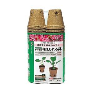 サカタのタネ ジフィー そのまま植えられる鉢 丸型5.5cm 40個|e-hanas