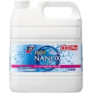 トップ スーパーナノックス NANOX 4kg 衣料用液体洗剤 業務用 ライオンハイジーン|e-hiso