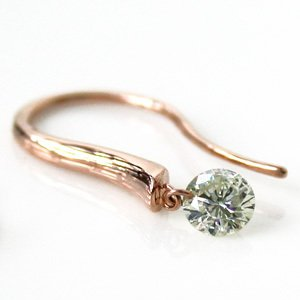 K18PG(K18ピンクゴールド)ダイヤモンド(4月の誕生石)0.3ctジプシー ピアス 揺れる|e-housekiya