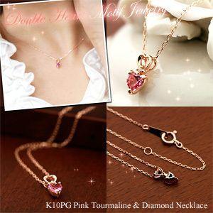 ピンクトルマリン ダイヤモンド ネックレス K10PG 10金ピンクゴールド 10月の誕生石 4月の誕生石 ビジュー|e-housekiya|03