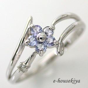 指輪 ホワイトゴールド タンザナイト リング 12月誕生石|e-housekiya
