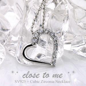 close to me クロス・トゥ・ミー キュービック ジルコニア シルバーネックレス SN36-040 cheri シェリ ビジュー|e-housekiya
