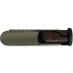 防犯 窓の防犯 換気ロック スライドロック カチカチプレートタイプ ダークブラウン サッシ用簡易補助錠|e-housemania