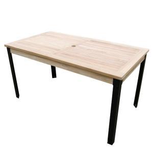 ガーデンテーブル 屋外用 アイアンガーデンファニチャー 長方形テーブル1407  組立式 モダン ス...