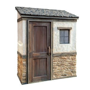物置 屋外専用 ガーデン物置 Cots knob FRP製ドア取っ手タイプ 組立式 物置小屋 クラシカル おしゃれ 【代引き不可】|e-housemania