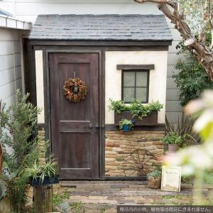 物置 屋外専用 ガーデン物置 Cots latch 真鍮製ラッチタイプ 組立式 物置小屋 収納 ガーデンハウス クラシカル おしゃれ 【代引き不可】|e-housemania