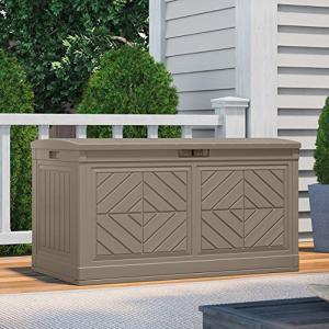 物置 屋外専用 デッキボックス ブローモデル 80ガロンデッキボックスBaywood(ベイウッド) 約302Lの容量が収納できる 組立式|e-housemania