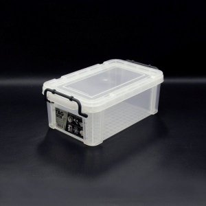 収納ボックス 収納ケース プラスチック製 タグボックス01 透明(クリア)収納箱 DIY、アウトドア用品などの整理に 重ね置き可能|e-housemania