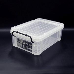 収納ボックス 収納ケース プラスチック製 タグボックス02 透明(クリア)収納箱 DIY、アウトドア用品などの整理に 重ね置き可能|e-housemania