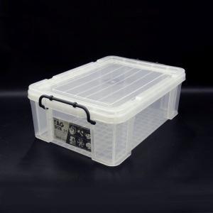 収納ボックス 収納ケース プラスチック製 タグボックス04 透明(クリア)収納箱 DIY、アウトドア用品などの整理に 重ね置き可能|e-housemania