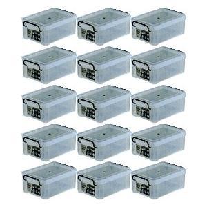 収納ボックス 収納ケース プラスチック製 タグボックス02 お買い得15個セット 透明(クリア) 収納箱で簡単整理 重ね置き可能|e-housemania