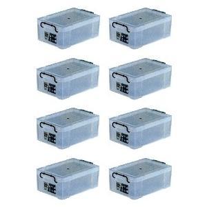 収納ボックス 収納ケース プラスチック製 タグボックス04 お買い得8個セット 透明(クリア) 収納箱で簡単整理 重ね置き可能|e-housemania
