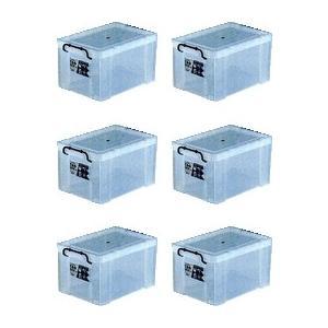 収納ボックス 収納ケース プラスチック製 タグボックス05 お買い得6個セット 透明(クリア) 収納箱で簡単整理 重ね置き可能|e-housemania
