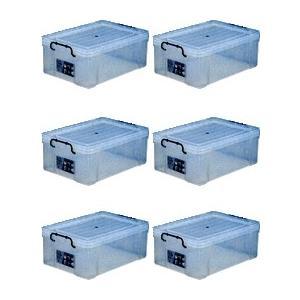 収納ボックス 収納ケース プラスチック製 タグボックス06 お買い得6個セット 透明(クリア) 収納箱で簡単整理 重ね置き可能|e-housemania