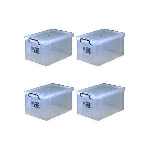 収納ボックス 収納ケース プラスチック製 タグボックス07 お買い得4個セット 透明(クリア) 収納箱で簡単整理 重ね置き可能|e-housemania