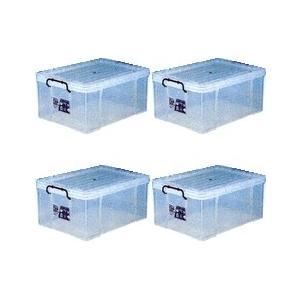 収納ボックス 収納ケース プラスチック製 タグボックス08 お買い得4個セット 透明(クリア) 収納箱で簡単整理 重ね置き可能|e-housemania