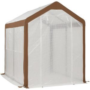 家庭菜園に最適な大型の温室。冬の寒風、霜から植物を守ります。 荷物の移動などができる十分な高さだから...