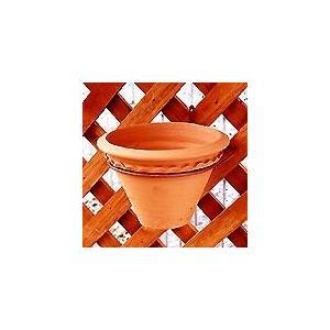 園芸用品 プランターフック ガーデニング F-354 壁面ポットハンガー ラティス4号鉢用 5個セット 植物で壁飾り|e-housemania