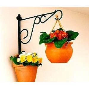 園芸用品 プランターフック ガーデニング F-902 壁面ハンガー ガーデンブラケット プランターフック 植物で壁飾り|e-housemania