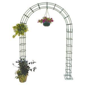 ガーデンアーチ ローズアーチ 高級 モスグリーン 大 幅1500×高さ2200×奥行250  手作り 異形棒鋼 ローズ 薔薇 庭園 花壇 特注可能 送料無料|e-housemania