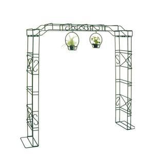 ガーデンアーチ ローズアーチ 高級 モスグリーン J・パーゴラ 幅2000×高さ2200×奥行450 手作り 異形棒鋼 ガーデニング 特注可能 送料無料|e-housemania