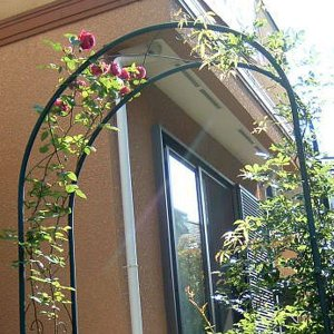 ガーデンアーチ ローズアーチ アイアン モスグリーン R-N型 幅1100×高さ2300×奥行400 組立式 DIY  ローズ 薔薇 誘引 送料無料|e-housemania