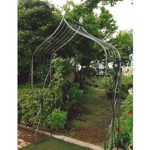 ガーデンアーチ ローズアーチ アイアン ロートアイアン B型 幅1590×高さ2470×奥行510 組立式 DIY ベランダ ローズ 薔薇 誘引 送料無料|e-housemania