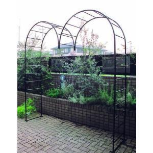 アイアン ガーデンアーチ M型 バラアーチ ガーデンファニチャー 園芸用品 つる植物・薔薇の誘引|e-housemania
