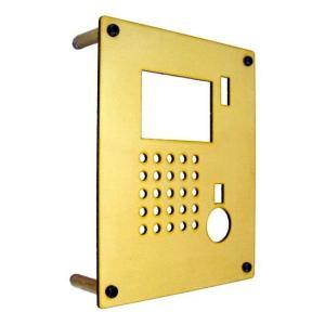 インターホンカバー 真鍮 モダンスタイル インターフォン カバー 真鍮 装飾 エクステリア 手作り|e-housemania