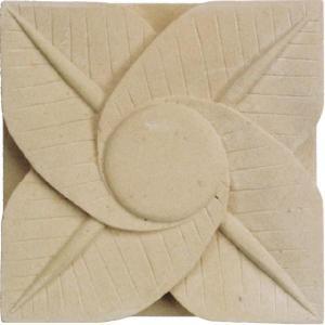 壁飾りブロック 石 ストーンでアクセントあるデザインに!南国の植物をモチーフにした石の彫刻 「ストー...