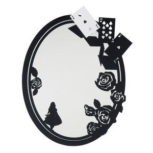 壁掛け 鏡 ミラー  不思議の国のアリス Rose Garden e-housemania