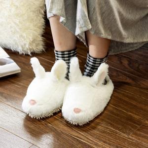 モップスリッパ 洗える  ふわふわモップスリッパ(ウサギ) 足のサイズ約23〜26cmに対応|e-housemania