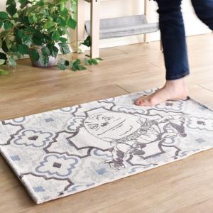 玄関マット 室内・屋内用 ふしぎの国のアリス インテリアマット(ハンプティダンプティ)  約80×50cm 洗える玄関マット|e-housemania