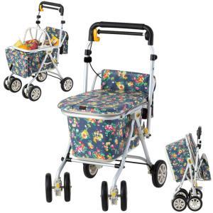 シルバーカー 手押し車 ヘルスバッグ わくわくタント N Dフラワー 象印ベビー 軽量 高齢者 敬老の日 贈り物|e-housemania